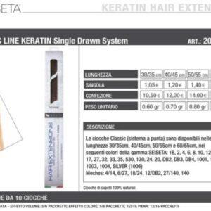 Extension cheratina capelli naturali 100%